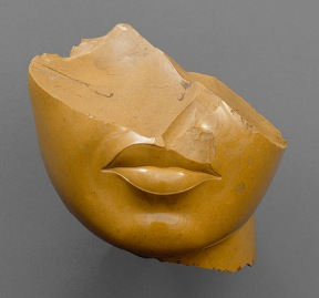 """Fragment of a Queen's Face"", Unknown Artist, ca. 1353–1336 B.C., Amarna Dynasty"