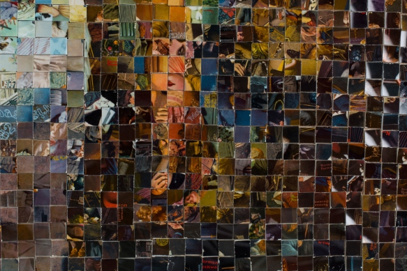 Fitting in with the squares, by Niki Johnson. 67 inches long by 47 inches tall