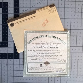 Certificate of Authenticity with Welcome Packet