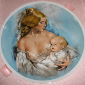 Mother's Day plate, Young Americans Series by Leo Jansen, Royal Bareuth Co., 1977
